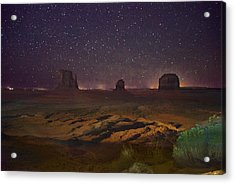 Stars Over Monument Valley Acrylic Print