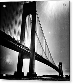 Stars Over The Verrazano Acrylic Print