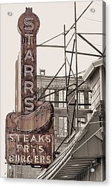 Stars Steaks Frys And Burgers Acrylic Print by JC Findley