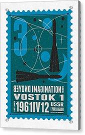 Starschips 03-poststamp - Vostok Acrylic Print by Chungkong Art