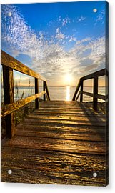 Start Of The Day Acrylic Print by Debra and Dave Vanderlaan