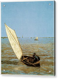 Starting Out After Rail Acrylic Print by Thomas Eakins