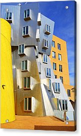 Acrylic Print featuring the photograph Stata Building At M I T by Caroline Stella