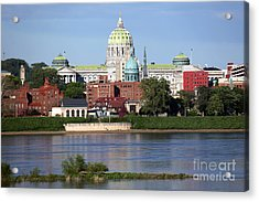 State Capitol Building Harrisburg Pennsylvania Acrylic Print by Bill Cobb
