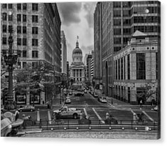 Acrylic Print featuring the photograph State Capitol Building by Howard Salmon