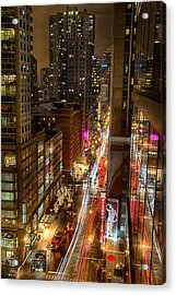 State Street - Chicago - 12-14-13 Acrylic Print by Michael  Bennett