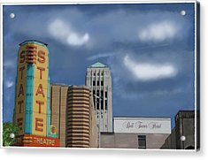 State Theater Acrylic Print by C A Soto Aguirre
