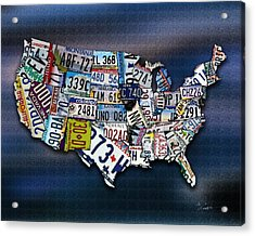States Acrylic Print by Robert Smith
