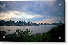 Static Skyline Moving Sky Acrylic Print