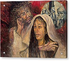 Station Iv Jesus Meets His Mother Acrylic Print
