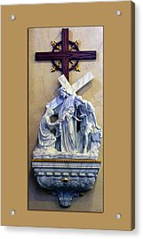 Station Of The Cross 06 Acrylic Print by Thomas Woolworth