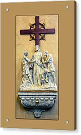 Station Of The Cross 10 Acrylic Print by Thomas Woolworth