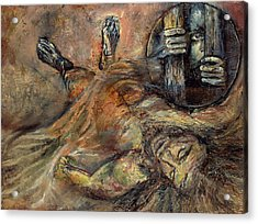 Station Xiv Jesus Is Laid In The Tomb Acrylic Print