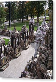 Stations At Grotto Of Redemption Acrylic Print by Dusty Reed
