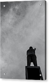 Statue And Sky Acrylic Print by Tommytechno Sweden