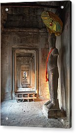 Statue, Angkor Wat, Cambodia Acrylic Print