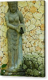 Acrylic Print featuring the photograph Statue - Bali by Matthew Onheiber