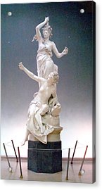Statue In Paris Acrylic Print by Kay Gilley
