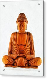 Statue Of Buddha Acrylic Print by George Atsametakis