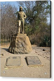 Statue Of David Livingstone Acrylic Print by Panoramic Images