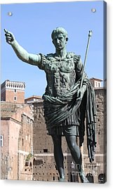 Statue Of Emperor Augustus Acrylic Print by Alessandro Russo
