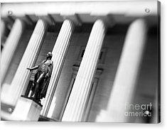 Statue Of George Washington Acrylic Print by Tony Cordoza