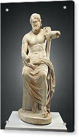 Statue Of Jupiter Marbury Hall Zeus Unknown 1st Century Acrylic Print