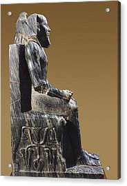 Statue Of Khafre Enthroned. 2520 Bc Acrylic Print by Everett