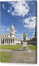 Statue Of King George II As A Roman Emperor In Greenwich Acrylic Print by Roberto Morgenthaler