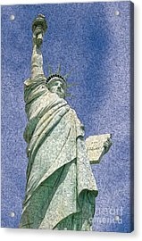 Acrylic Print featuring the digital art Liberty by Kenneth Montgomery