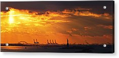 Statue Of Liberty At Sunset. Acrylic Print