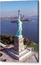 Statue Of Liberty Close Acrylic Print by Kim Lessel