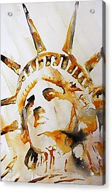 Statue Of Liberty Closeup Acrylic Print by J- J- Espinoza