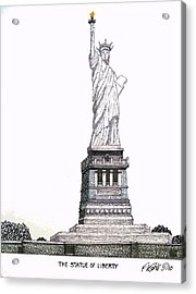 Statue Of Liberty Acrylic Print by Frederic Kohli