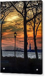 Statue Of Liberty From Battery Park Acrylic Print