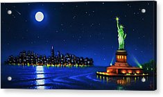 Statue Of Liberty In The Ny Horbor Acrylic Print