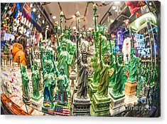 Statue Of Liberty Acrylic Print by Luca Venturelli