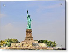 Statue Of Liberty Macro View Acrylic Print by Randy Aveille