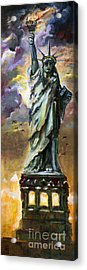 Statue Of Liberty New York  Acrylic Print by Ginette Callaway
