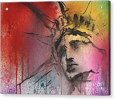 Statue Of Liberty New York Painting Acrylic Print by Svetlana Novikova