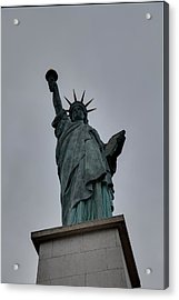 Statue Of Liberty - Paris France - 01131 Acrylic Print by DC Photographer