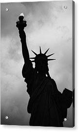 Acrylic Print featuring the photograph Statue Of Liberty Silhouette by Dave Beckerman