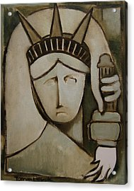 Tommervik Abstract Statue Of Liberty Art Print Acrylic Print by Tommervik