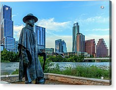 Statue Of Stevie Ray Vaughan Acrylic Print by Panoramic Images