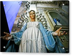 Statue Of The Virgin Mary, San Miguel Acrylic Print by Julien Mcroberts