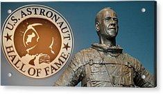 Statue Of Us Astronaut Alan Shepard Acrylic Print by Tony Craddock