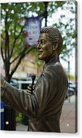Statue Of Us President Bill Clinton Acrylic Print