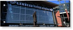 Statue Outside A Stadium, Lambeau Acrylic Print by Panoramic Images