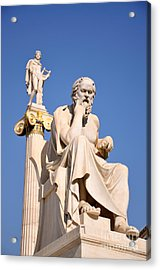 Statues Of Socrates And Apollo Acrylic Print