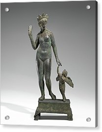 Statuette Of Aphrodite And Eros On A Base Unknown Probably Acrylic Print